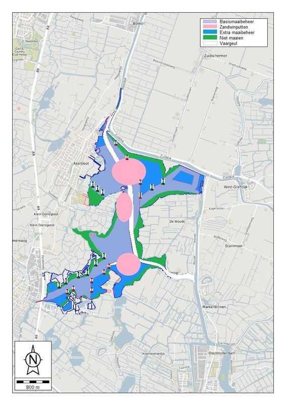 2019 kaart recreatiebetonning waterplanten // aa-kaartje_met_recreatiebetonning_2019.jpg (48 K)